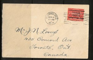 Newfoundland #28 Very Fine Used On Cover To Toronto
