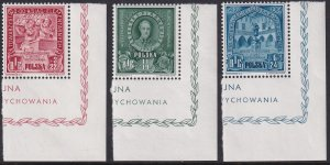1946 Poland Polish educational work full set MNH Sc# B49 / A B CV $95.00 #2