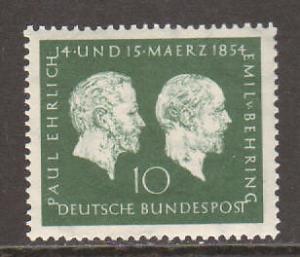 Germany Sc 722 MNH. 1954 Ehrich & von Behring cplt