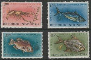 Indonesia MNH 589-92 Fish Marine Life 1963