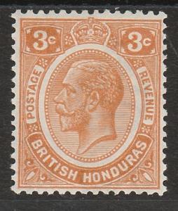 BRITISH HONDURAS 1922 KGV 3C