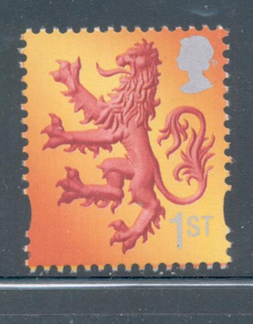 Great Britain Scotland Sc 15 1999 1st Lion stamp mint NH
