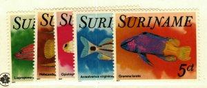 Suriname #471-5 MNH Fish set CV$6.50