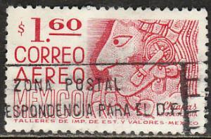 MEXICO C474, $1.60 1950 Defin 9th Issue Unwmk Fosf Glazed. USED. F-VF. (1457)