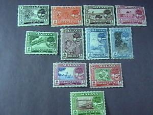 MALAYA/MALACCA # 56-66 -MINT/HINGED-COMPLETE SET------QEII------1960