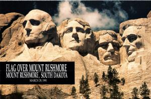 US 2523 Flag Over Mount Rushmore Ceremony Program FDC