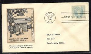 US #796-32 Virginia Dare Linprint cachet addressed