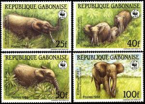 Gabon WWF African Forest Elephant 4v SG#1000-1003 MI#1009-1012 SC#634-637