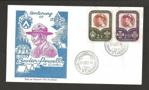 1957 Luxembourg Boy Scouts Girl Guides Baden Powell FDC