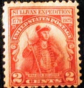 USA 657 – 1929 2c Sullivan's Expedition MNH OG  xf