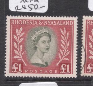 Rhodesia & Nyasaland SG 15 MNH (3dlz)