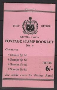 SAMOA SGSB9 1962 6/= BOOKLET MNH