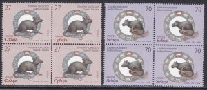 Serbia 2020 China Chine New Year Rat Rats Animals Fauna Mammals Rodents set MNHa