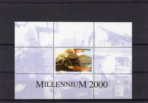 Turkmenistan 2000 Steam Train-Concorde-Millennium 2000 Souvenir Sheet Perforated