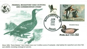 KMC Venture RW57 Black Bellied Duck Stamp Green Duck Decoy