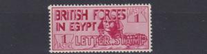 BRITISH FORCES EGYPT  1934    S G  7  1P CARMINE       MH