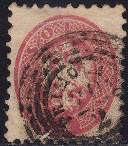 Lombardy-Venetia - 1864 - Scott #22 - used - PRIMOLANO pmk