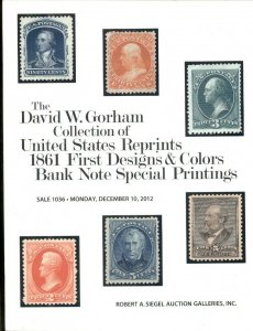 GORHAM COLLEC.OF US REPRINTS FIRST DESIGNS & COLORS BANK NOTE SPECIAL PRINTINGS