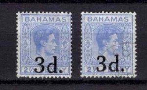 1940 Bahamas George VI Definitive Optd. 3d