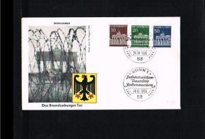 1966 - Germany FDC Mi. 506,507,509 - Architecture - Monuments - Brandenburger...