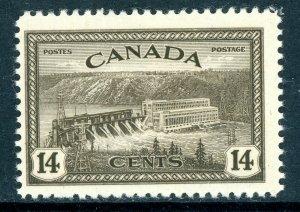 Canada 1946 Peace Issue 14¢ Dam Scott #270 MNH R123