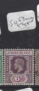 LEEWARD ISLANDS (P1710B) KGV   6D  SG 53   MOG