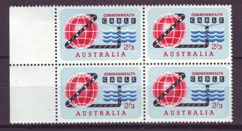 J16469 JLstamps 1963 australia set of 1 blk/4 #381 communication
