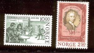 NORWAY 867-868 MNH PUBLIC LIBRARIES 1985