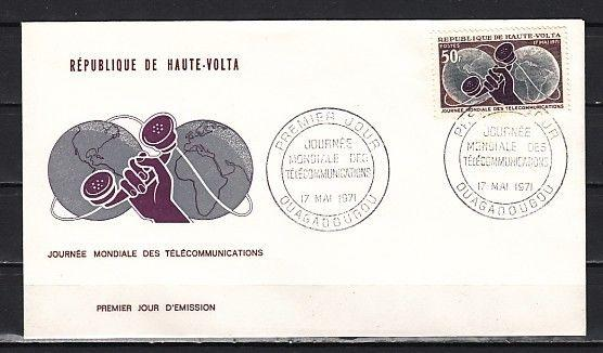 Burkina Faso, Scott cat. 241. Telephone, Communications. First day cover.