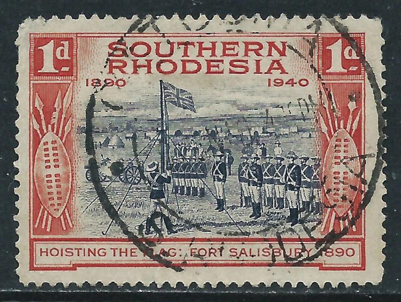 Southern Rhodesia, Sc #57, 1d Used