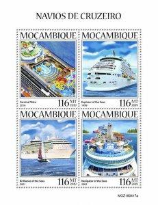 Z08 IMPERF MOZ190417a MOZAMBIQUE 2019 Cruise ships MNH ** Postfrisch