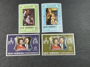 NEW HEBRIDES (BRITISH) # 167-170-MINT NEVER/HINGED--2 COMPLETE SETS--1972