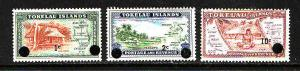 Tokelau-Sc#9-11-Unused NH set-new values surcharged-1967-