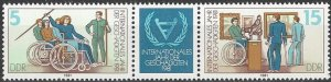 Germany  DDR  2196a  MNH  Year of Disabled Person