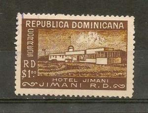 DOMINICAN REPUBLIC STAMP VFU HOTEL JIMANI 1950-52 #SA11
