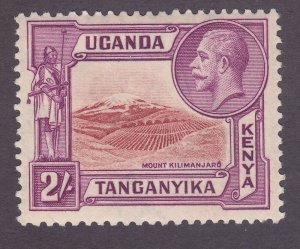 Kenya Uganda & Tanzania 55 Mint 1935 2sh Red Violet & Rose Brown KGV VF