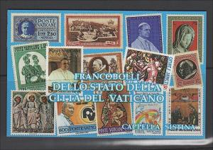 VATICAN Scott 877a  Sistine Chapel Restoration Booklet 1991