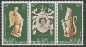 BRITISH VIRGIN ISLANDS SG384/6 1978 CORONATION MNH