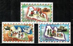Liberia Scott 1237-9 Mint NH (Catalog Value $24.75)