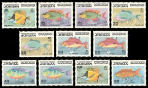 Jordan 1974 FISH Scott #758-768 Mint Never Hinged