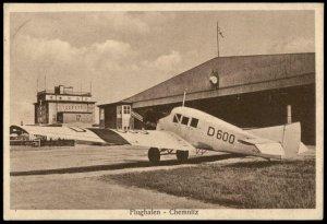 Germany 1929 Flughafen Chemnitz Airport Ikarus Restaurant 8pf Ebert Stamp G70910