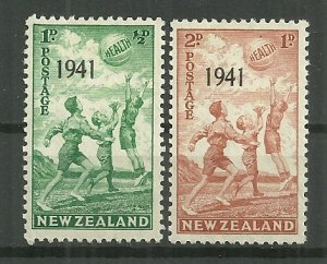 1941 New Zealand B18-9 Children at Play C/S of 2 MH