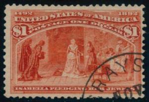 US Scott #241 Used, F