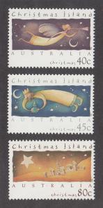 Christmas Island Scott #364-366 MNH