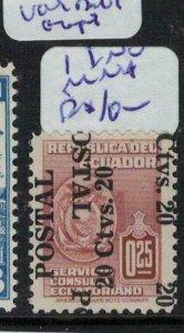 Ecuador SC 548 Double Overprint One Inverted MNH (6ekr)