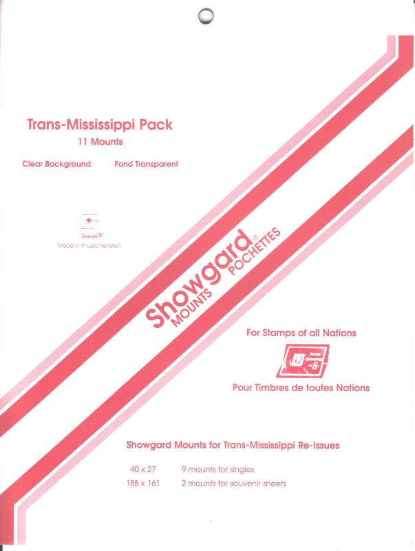 SHOWGARD CLEAR MOUNTS TRANS-MISSISSIPPI PACK (11) RETAIL PRICE $5.75