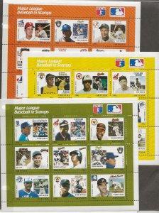 Grenada 664-672 9 min sheets US Baseball Players [NH]
