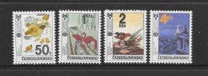 BIRDS - CZECHOSLOVAKIA #2666-9  CHILDREN'S STORIES  MNH