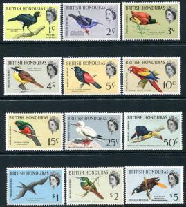 BRITISH HONDURAS-1962 Birds Set to $5 Sg 202-213 MOUNTED MINT V26397