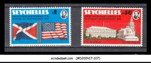 SEYCHELLES - 1976 BICENTENARIES OF AMERICAN & SEYCHELLES INDEPENDENCE - 2V - MNH